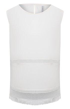 Женский льняной топ LA FABBRICA DEL LINO кремвого цвета, арт. 10405 | Фото 1