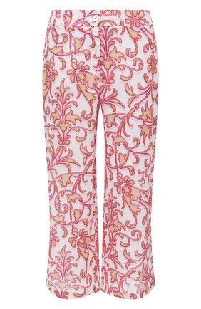 Женские льняное брюки LA FABBRICA DEL LINO розового цвета, арт. 10110 | Фото 1
