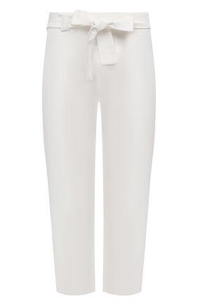 Женские льняные брюки LA FABBRICA DEL LINO кремвого цвета, арт. 10106 | Фото 1