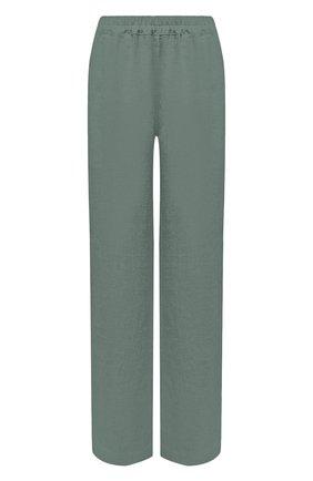 Женские льняные брюки LA FABBRICA DEL LINO хаки цвета, арт. 00105 | Фото 1