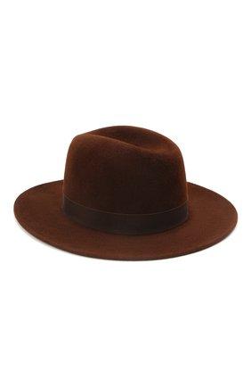 Женская шляпа london COCOSHNICK HEADDRESS коричневого цвета, арт. londonl-82 | Фото 1