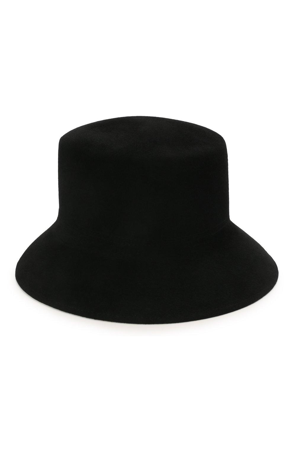 Женская шляпа panama COCOSHNICK HEADDRESS черного цвета, арт. basel-02 | Фото 1