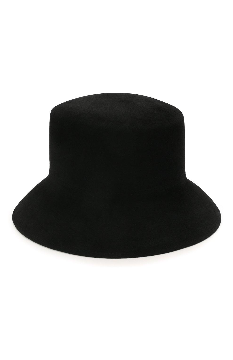 Женская шляпа panama COCOSHNICK HEADDRESS черного цвета, арт. basel-02 | Фото 2