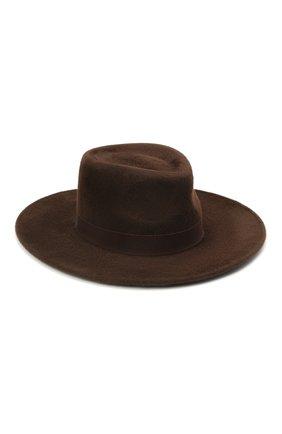 Женская шляпа romb COCOSHNICK HEADDRESS коричневого цвета, арт. rombm-83 | Фото 1