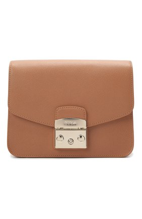 Женская сумка metropolis small FURLA коричневого цвета, арт. WB00244/ARE000   Фото 1