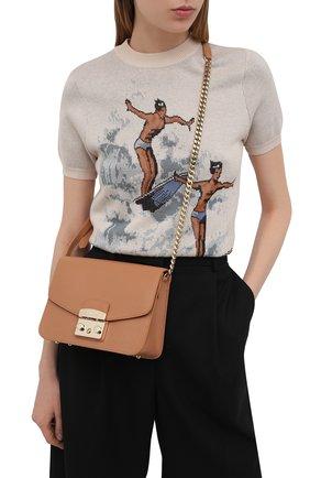 Женская сумка metropolis small FURLA коричневого цвета, арт. WB00244/ARE000   Фото 2