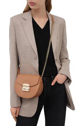 Женская сумка metropolis mini FURLA коричневого цвета, арт. BATJEP0/ARE000   Фото 2