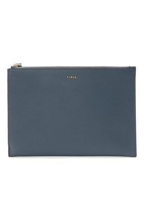 Женские кожаный футляр для документов FURLA голубого цвета, арт. EAX0UNO/ARE000 | Фото 1