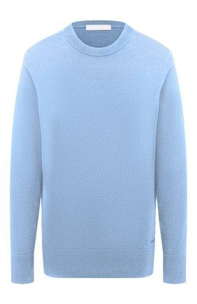 Женский хлопковый пуловер BOSS голубого цвета, арт. 50436149   Фото 1