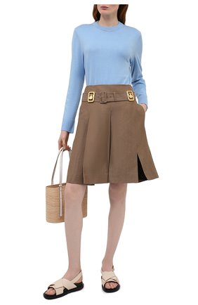 Женский хлопковый пуловер BOSS голубого цвета, арт. 50436149   Фото 2