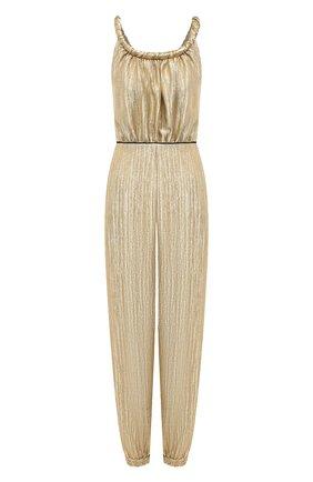 Женский шерстяной комбинезон FENDI золотого цвета, арт. FDA864 AC40 | Фото 1