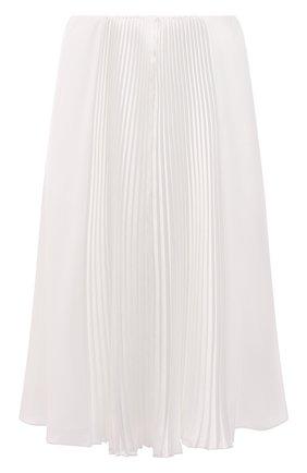 Женская плиссированная юбка RALPH LAUREN белого цвета, арт. 290840907 | Фото 1 (Женское Кросс-КТ: Юбка-одежда, юбка-плиссе; Материал подклада: Синтетический материал; Длина Ж (юбки, платья, шорты): Миди; Материал внешний: Синтетический материал; Стили: Романтичный)