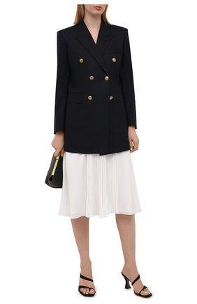 Женская плиссированная юбка RALPH LAUREN белого цвета, арт. 290840907 | Фото 2 (Женское Кросс-КТ: Юбка-одежда, юбка-плиссе; Материал подклада: Синтетический материал; Длина Ж (юбки, платья, шорты): Миди; Материал внешний: Синтетический материал; Стили: Романтичный)
