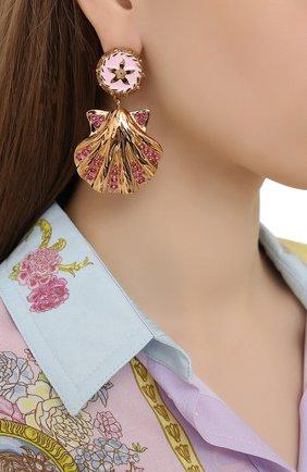 Женские серьги VERSACE розового цвета, арт. DG2I112/DJSX | Фото 2