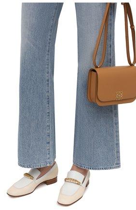 Женские кожаные лоферы LORO PIANA бежевого цвета, арт. FAL6202 | Фото 3