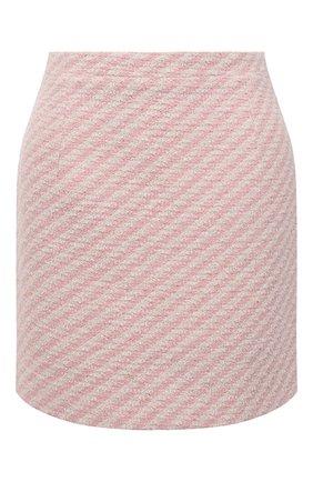 Женская юбка из хлопка и вискозы ALESSANDRA RICH светло-розового цвета, арт. FAB1441-F3172 | Фото 1