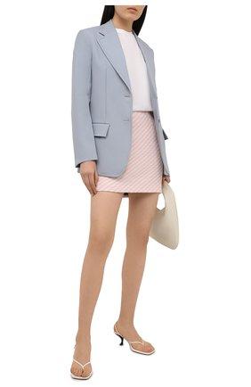 Женская юбка из хлопка и вискозы ALESSANDRA RICH светло-розового цвета, арт. FAB1441-F3172 | Фото 2