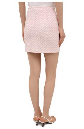 Женская юбка из хлопка и вискозы ALESSANDRA RICH светло-розового цвета, арт. FAB1441-F3172 | Фото 4