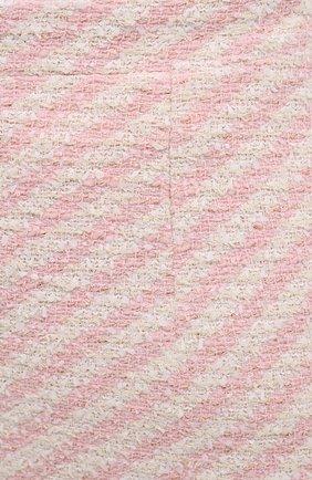 Женская юбка из хлопка и вискозы ALESSANDRA RICH светло-розового цвета, арт. FAB1441-F3172 | Фото 5