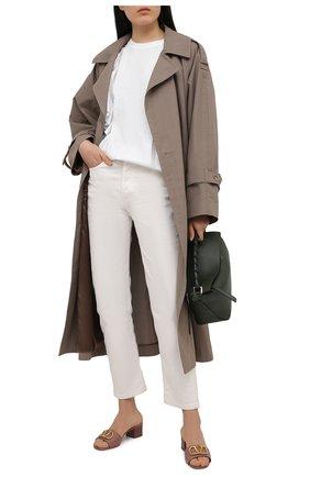 Женские кожаные мюли valentino garavani vlogo signature VALENTINO темно-бежевого цвета, арт. VW0S0M60/HWS | Фото 2