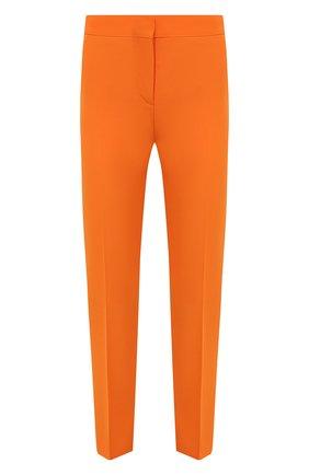 Женские шерстяные брюки BURBERRY оранжевого цвета, арт. 8039323 | Фото 1