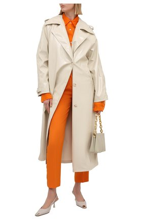 Женские шерстяные брюки BURBERRY оранжевого цвета, арт. 8039323 | Фото 2
