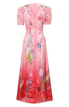 Женское шелковое платье SALONI красного цвета, арт. 1764-1485 | Фото 1