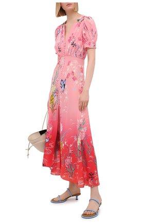 Женское шелковое платье SALONI красного цвета, арт. 1764-1485 | Фото 2