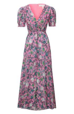 Женское шелковое платье SALONI розового цвета, арт. 1764-1493 | Фото 1