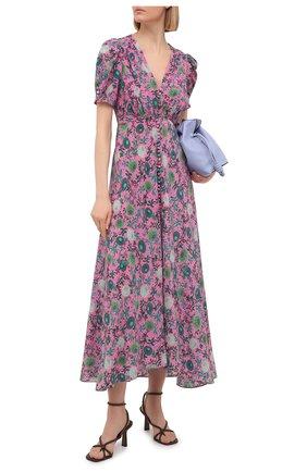 Женское шелковое платье SALONI розового цвета, арт. 1764-1493 | Фото 2