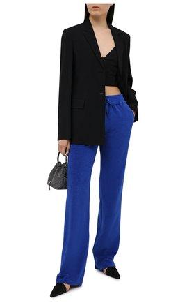 Женские хлопковые брюки TOM FORD синего цвета, арт. PAJ071-FAX830 | Фото 2