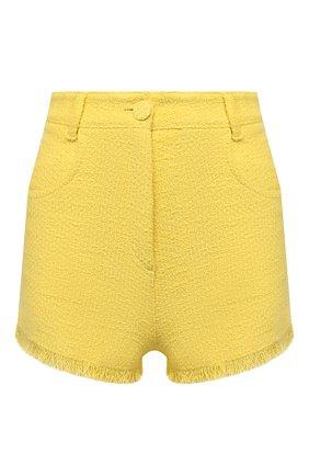 Женские хлопковые шорты MSGM желтого цвета, арт. 3042MDB102X 217306 | Фото 1