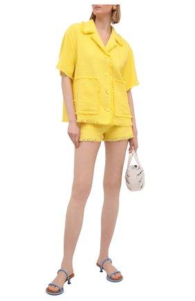 Женские хлопковые шорты MSGM желтого цвета, арт. 3042MDB102X 217306 | Фото 2