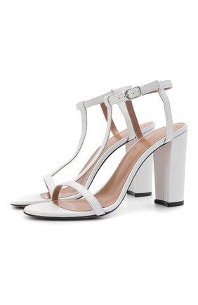 Женские кожаные босоножки KITON белого цвета, арт. D51810X08S71 | Фото 1 (Материал внутренний: Натуральная кожа; Каблук тип: Устойчивый; Подошва: Плоская; Каблук высота: Высокий)