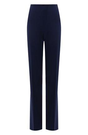 Женские шерстяные брюки RALPH LAUREN синего цвета, арт. 290840132 | Фото 1 (Материал внешний: Шерсть; Стили: Кэжуэл; Женское Кросс-КТ: Брюки-одежда; Длина (брюки, джинсы): Удлиненные; Силуэт Ж (брюки и джинсы): Расклешенные)