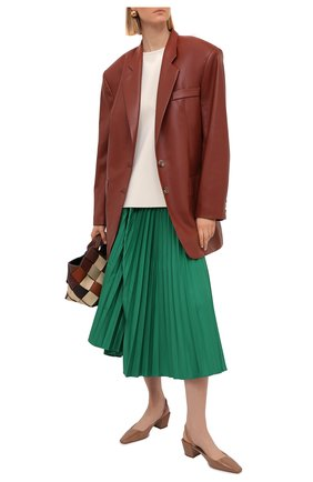 Женские кожаные туфли gini 45 JIMMY CHOO темно-бежевого цвета, арт. GINI 45/GHE | Фото 2