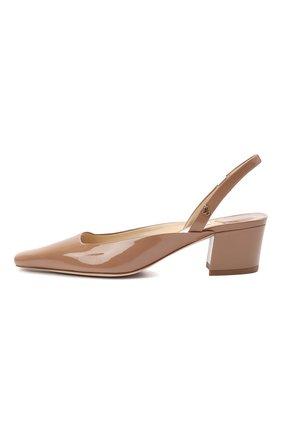 Женские кожаные туфли gini 45 JIMMY CHOO темно-бежевого цвета, арт. GINI 45/GHE | Фото 3