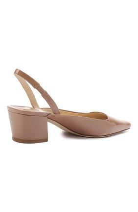 Женские кожаные туфли gini 45 JIMMY CHOO темно-бежевого цвета, арт. GINI 45/GHE | Фото 4