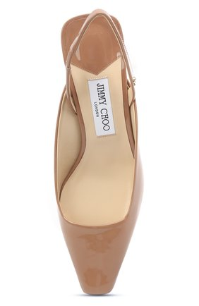 Женские кожаные туфли gini 45 JIMMY CHOO темно-бежевого цвета, арт. GINI 45/GHE | Фото 5