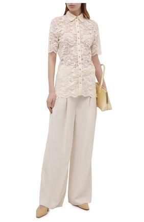 Женские брюки из шерсти и вискозы ZIMMERMANN кремвого цвета, арт. 1031PB0T | Фото 2