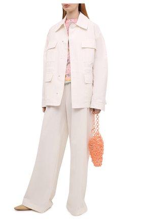 Женский топ из вискозы и шелка EMILIO PUCCI розового цвета, арт. 1HJN01/1H747 | Фото 2