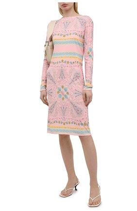Женское платье из вискозы и шелка EMILIO PUCCI розового цвета, арт. 1HJH40/1H747 | Фото 2