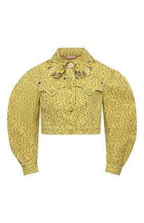 Женская джинсовая куртка VIVETTA желтого цвета, арт. 21E V2M0/0011/0094   Фото 1
