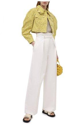 Женская джинсовая куртка VIVETTA желтого цвета, арт. 21E V2M0/0011/0094   Фото 2