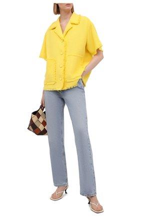 Женский хлопковый жакет MSGM желтого цвета, арт. 3042MDE109X 217306   Фото 2