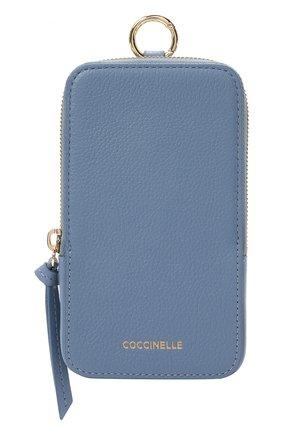 Кожаный чехол для iphone COCCINELLE синего цвета, арт. E2 HJF 17 22 01 | Фото 1