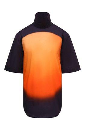 Женский хлопковый топ DRIES VAN NOTEN оранжевого цвета, арт. 211-10794-2083 | Фото 1