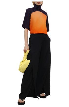 Женский хлопковый топ DRIES VAN NOTEN оранжевого цвета, арт. 211-10794-2083 | Фото 2