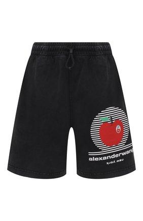 Женские хлопковые шорты ALEXANDER WANG черного цвета, арт. UCC2214003 | Фото 1