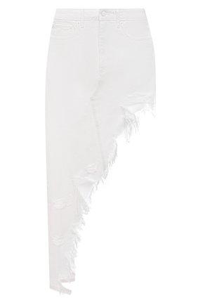 Женская джинсовая юбка DENIM X ALEXANDER WANG белого цвета, арт. 4DC2215943   Фото 1